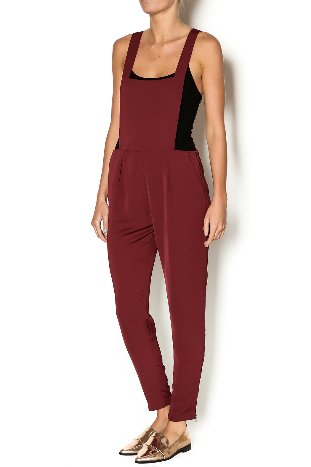 Potter's Pot Red Silk Overalls - Main Image