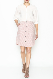 Potter's Pot Red Striped Skirt - Side cropped