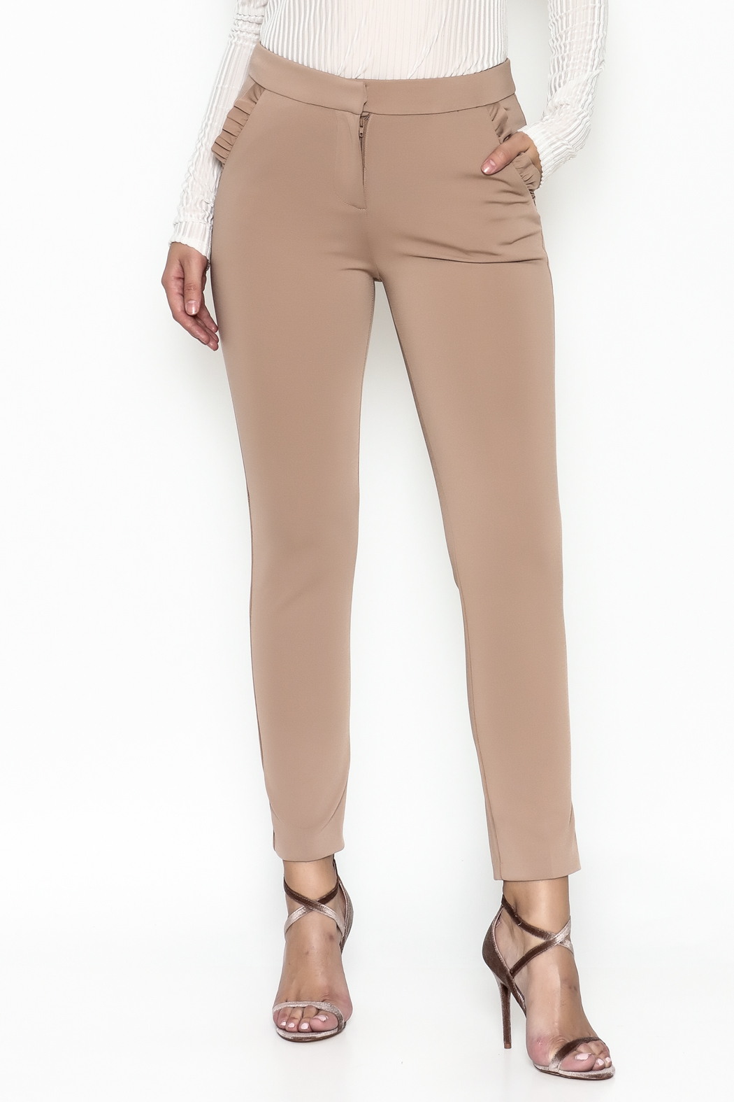 Potter's Pot Ruffle Pocket Trouser - Front Cropped Image