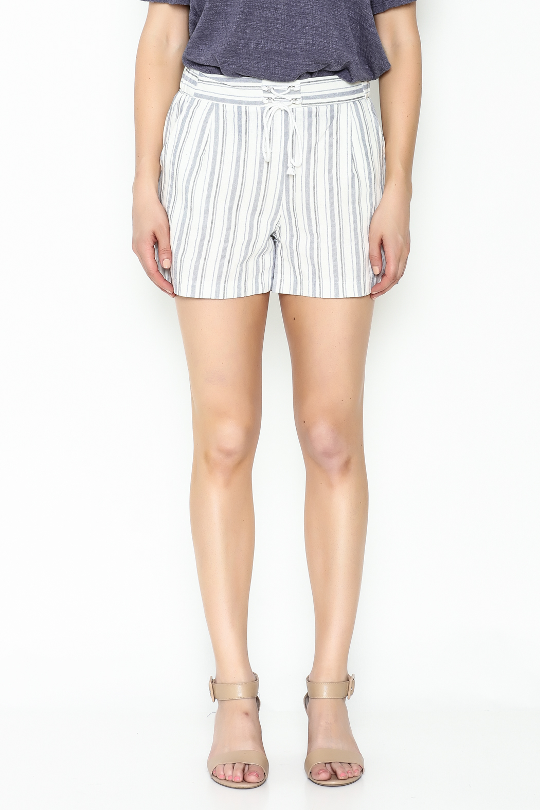 Potter's Pot Striped Shorts - Front Full Image