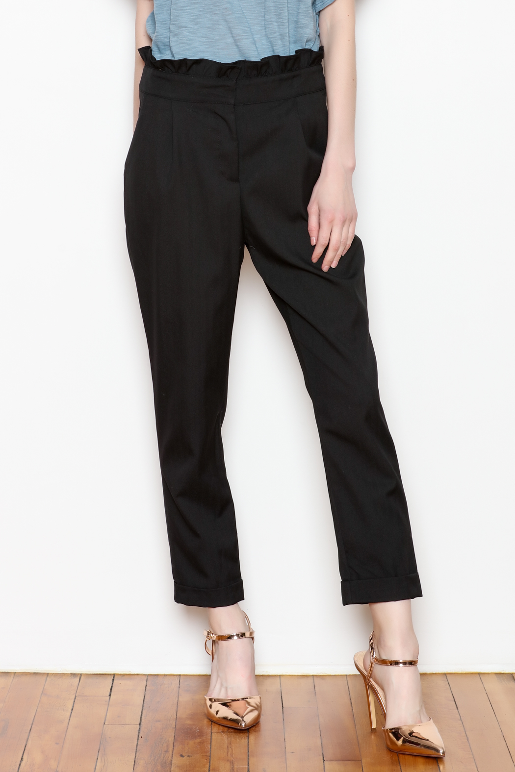 Potter's Pot Stripe Trousers - Front Cropped Image