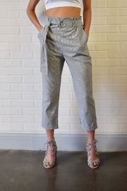 Potter's Pot Belted Striped Trousers - Front full body