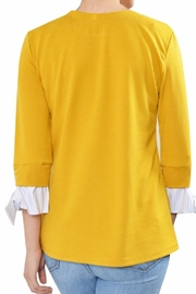 Potter's Pot Contrast Sleeve Top - Front full body