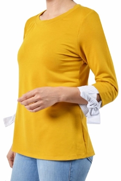 Potter's Pot Contrast Sleeve Top - Product List Image