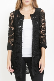 Potter's Pot Black Crochet Jacket - Product Mini Image