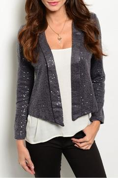 Potter's Pot Gray Sequined Blazer - Product List Image
