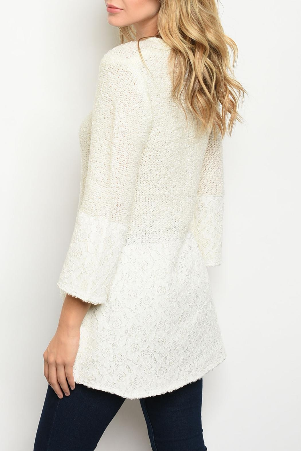 Potter's Pot Ivory Tunic Top - Front Full Image