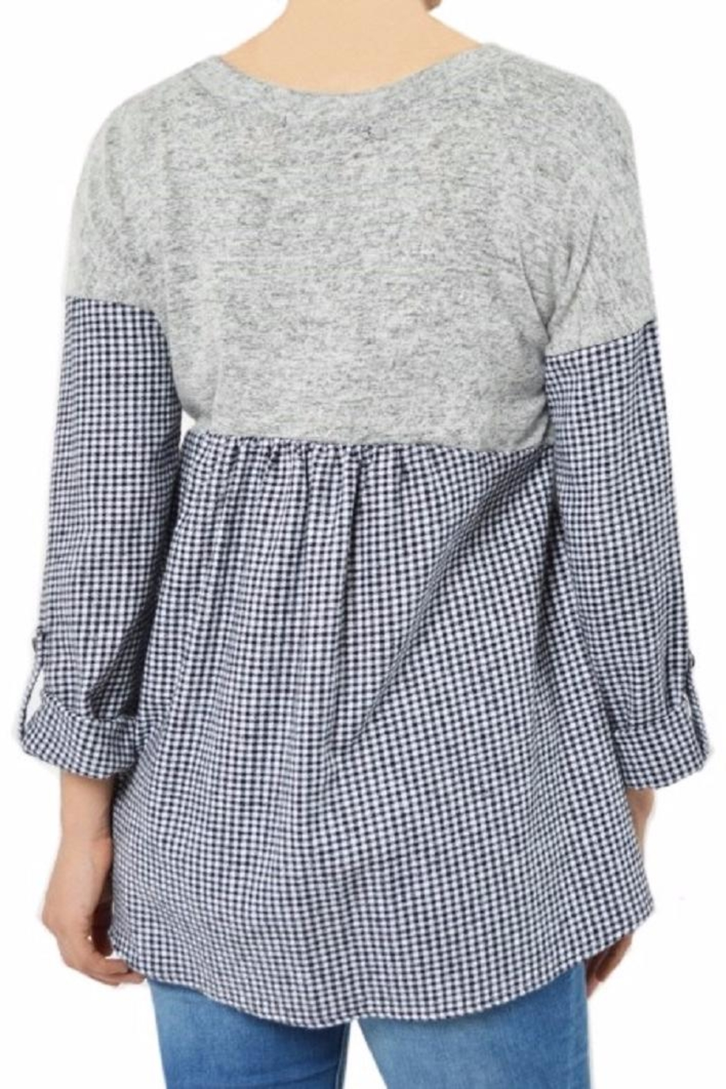 Potter's Pot Layered Check Top - Side Cropped Image