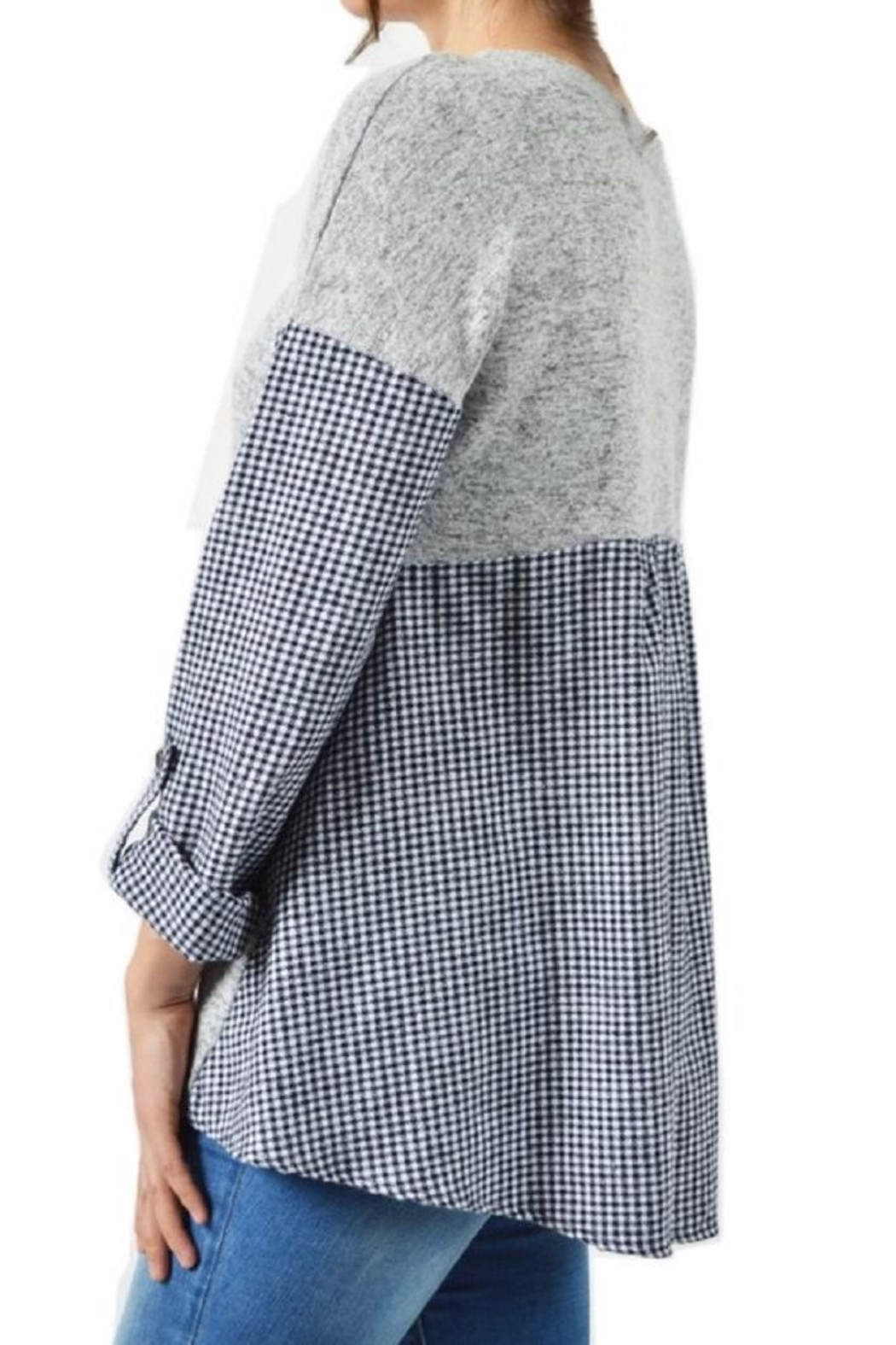 Potter's Pot Layered Check Top - Back Cropped Image