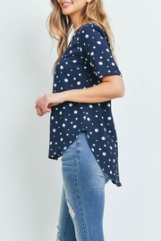 Potter's Pot Navy Polka-Dot Top - Side cropped