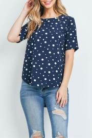 Potter's Pot Navy Polka-Dot Top - Front full body