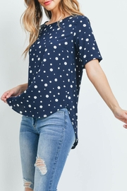 Potter's Pot Navy Polka-Dot Top - Front cropped