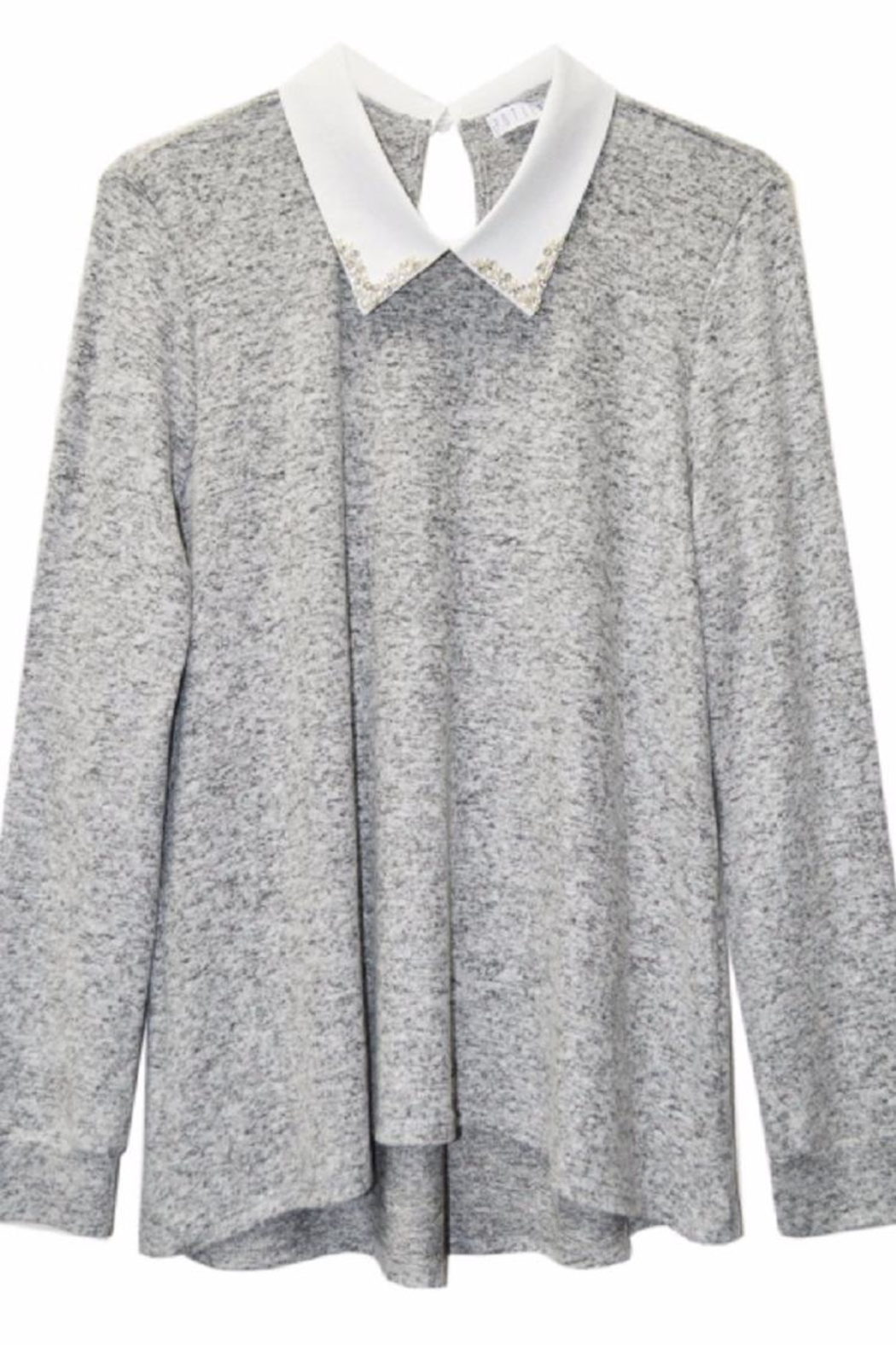 Potter's Pot Pearl Collar Blouse - Side Cropped Image