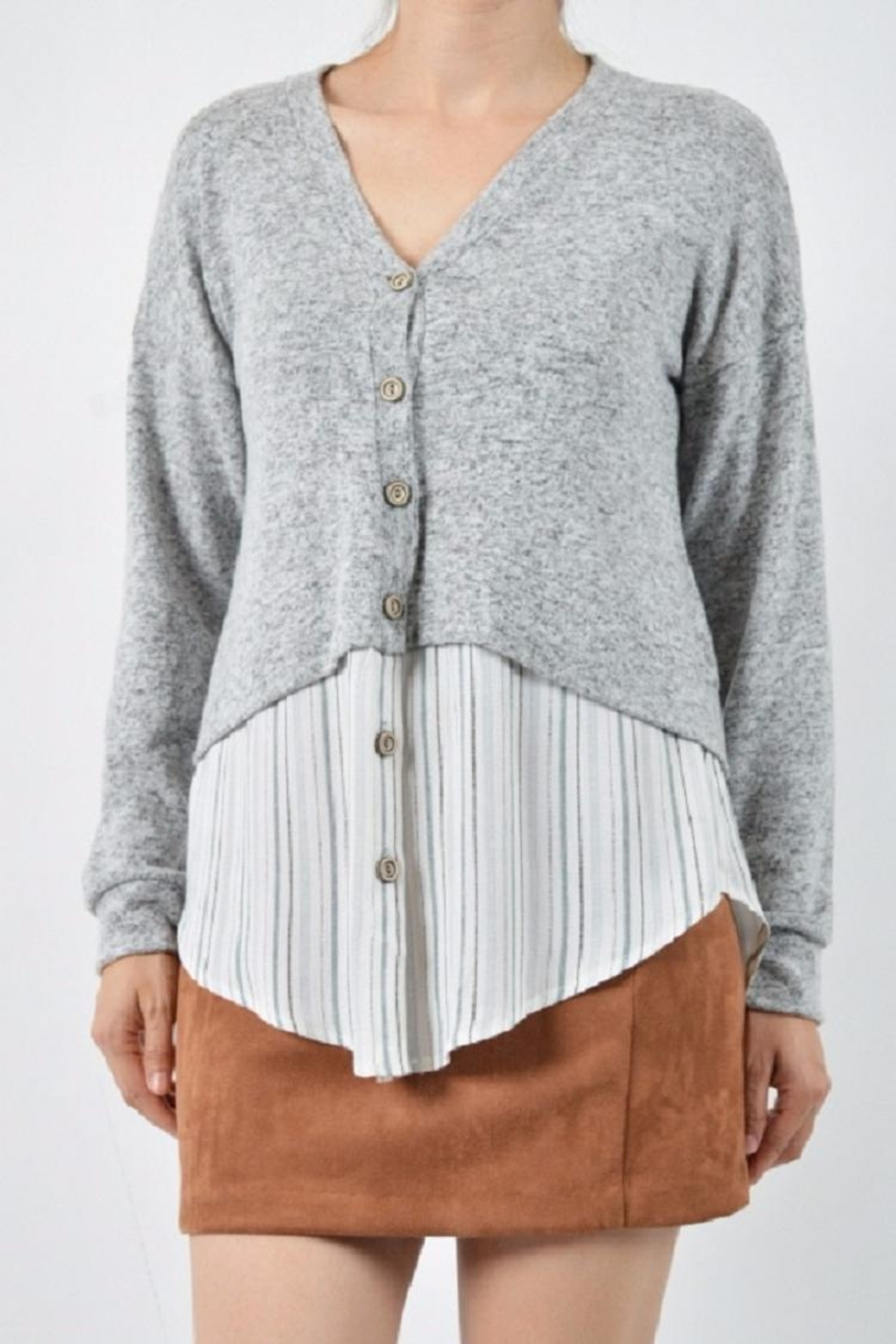 Potter's Pot Stripe Sweater Shirt - Front Cropped Image