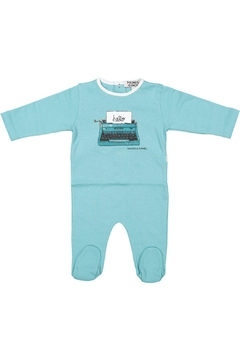 Shoptiques Product: Blue Typewriter Onesie