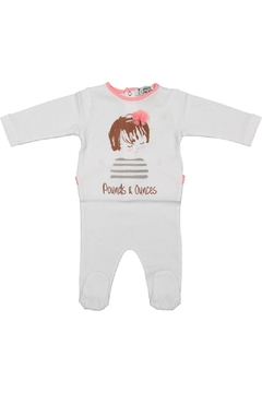 Pounds and Ounces Baby Girl Onesie - Product List Image