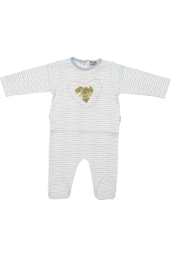 Pounds and Ounces Heart Print Onesie - Product List Image
