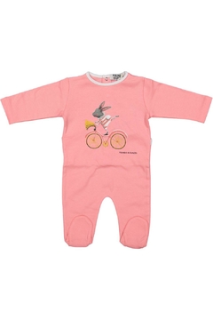Pounds and Ounces Pink Bicycle Onesie - Product List Image