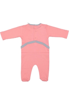 Pounds and Ounces Pink Heart Onesie - Alternate List Image