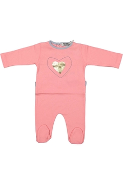 Pounds and Ounces Pink Heart Onesie - Product List Image