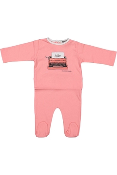 Pounds and Ounces Pink Typewriter Onesie - Product List Image