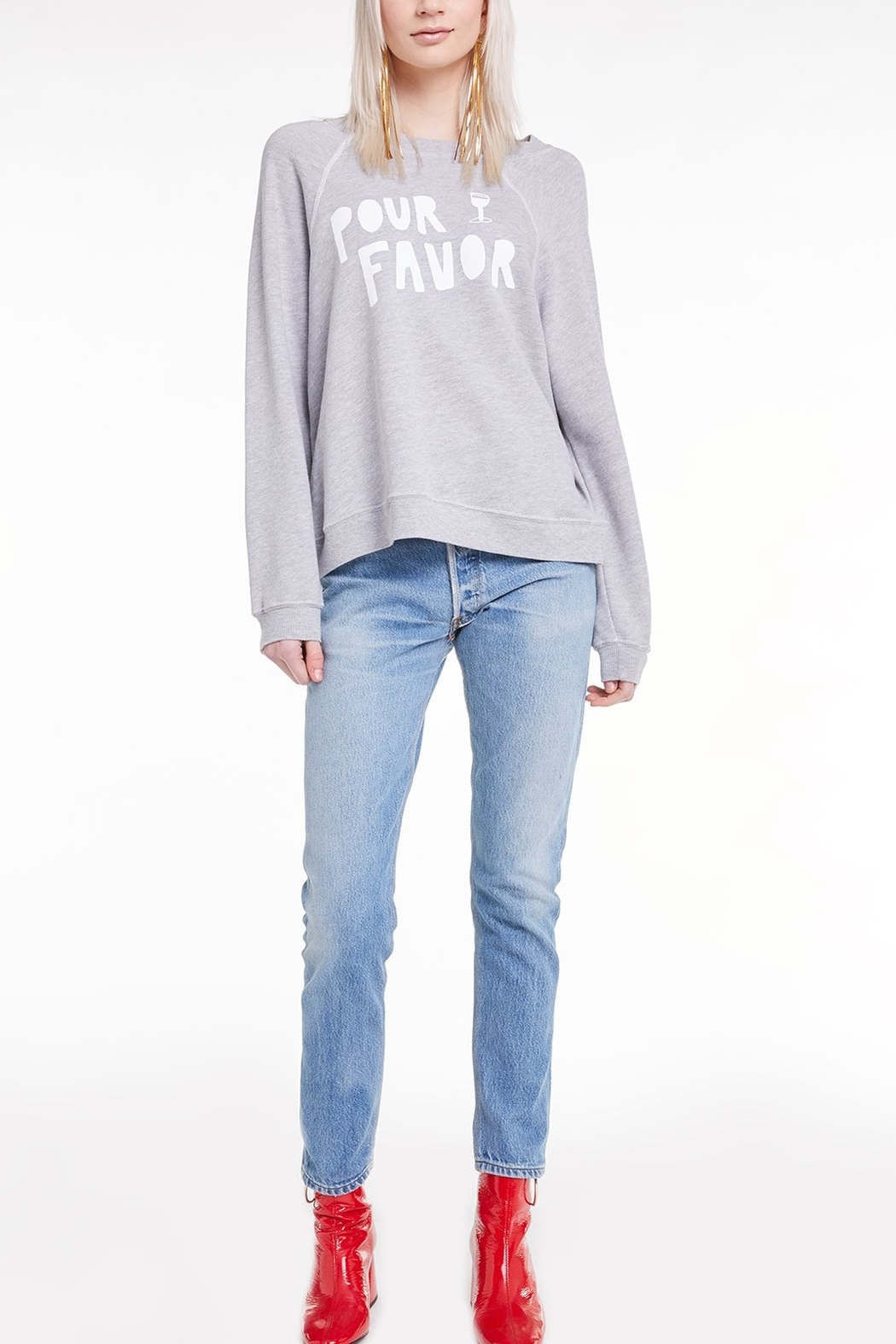 Wildfox Pour Favor Sommer Sweatshirt - Front Cropped Image