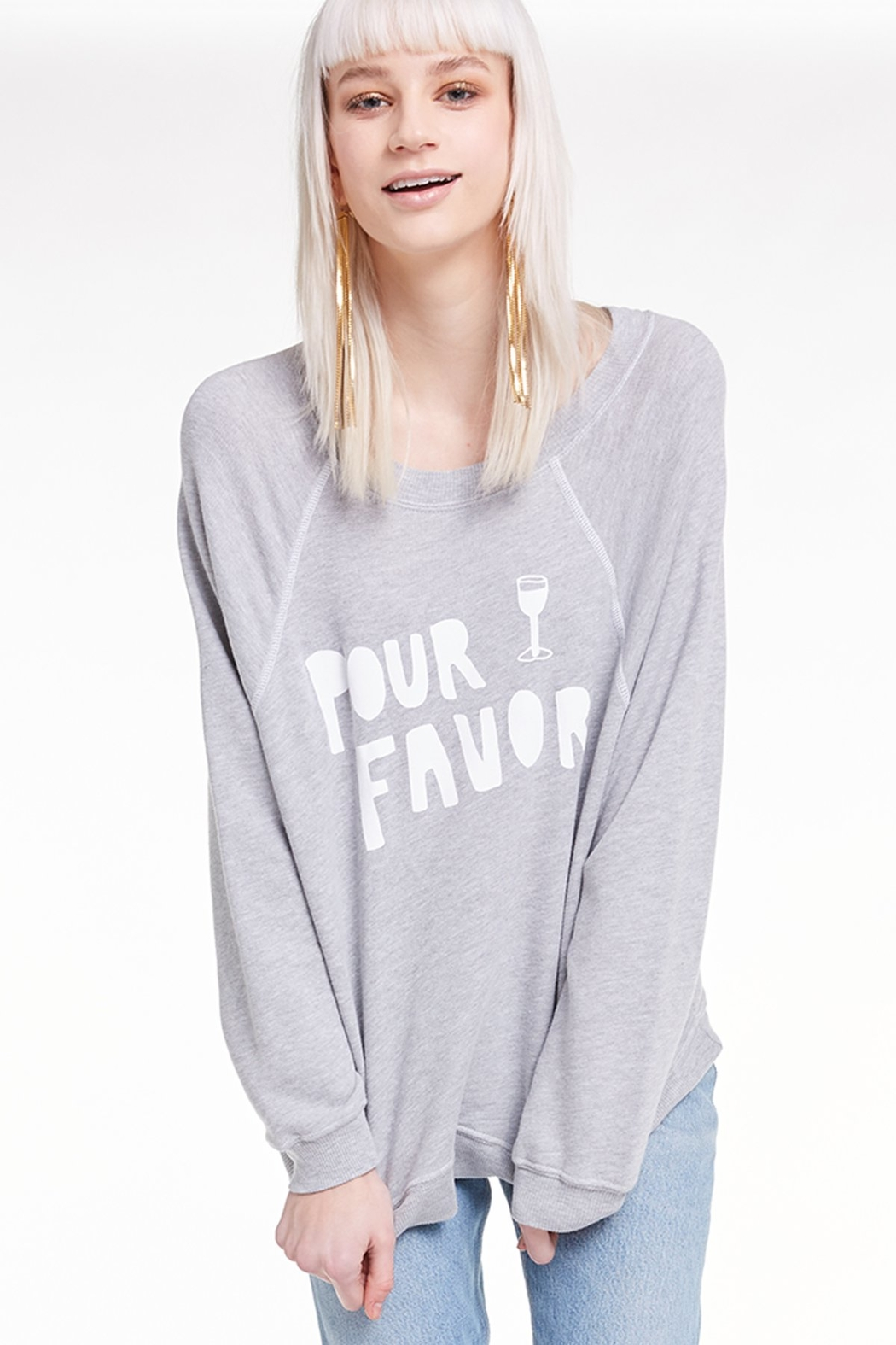 Wildfox Pour Favor Sommer Sweatshirt - Back Cropped Image