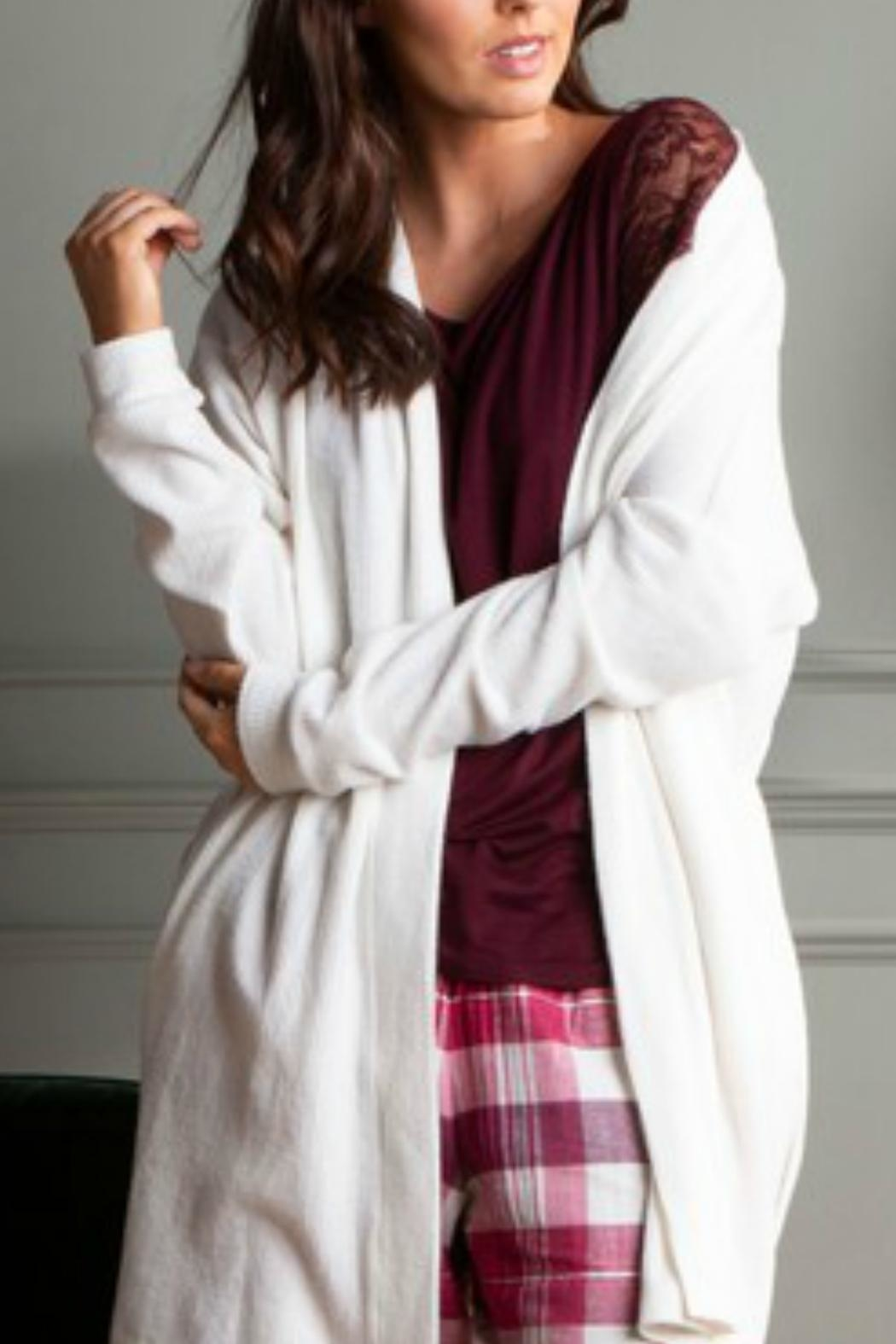 Pour Moi? Cosy Rib Wrap - Front Full Image