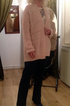Dame Blanche Anvers Powder Pink Cardigan - Product List Image