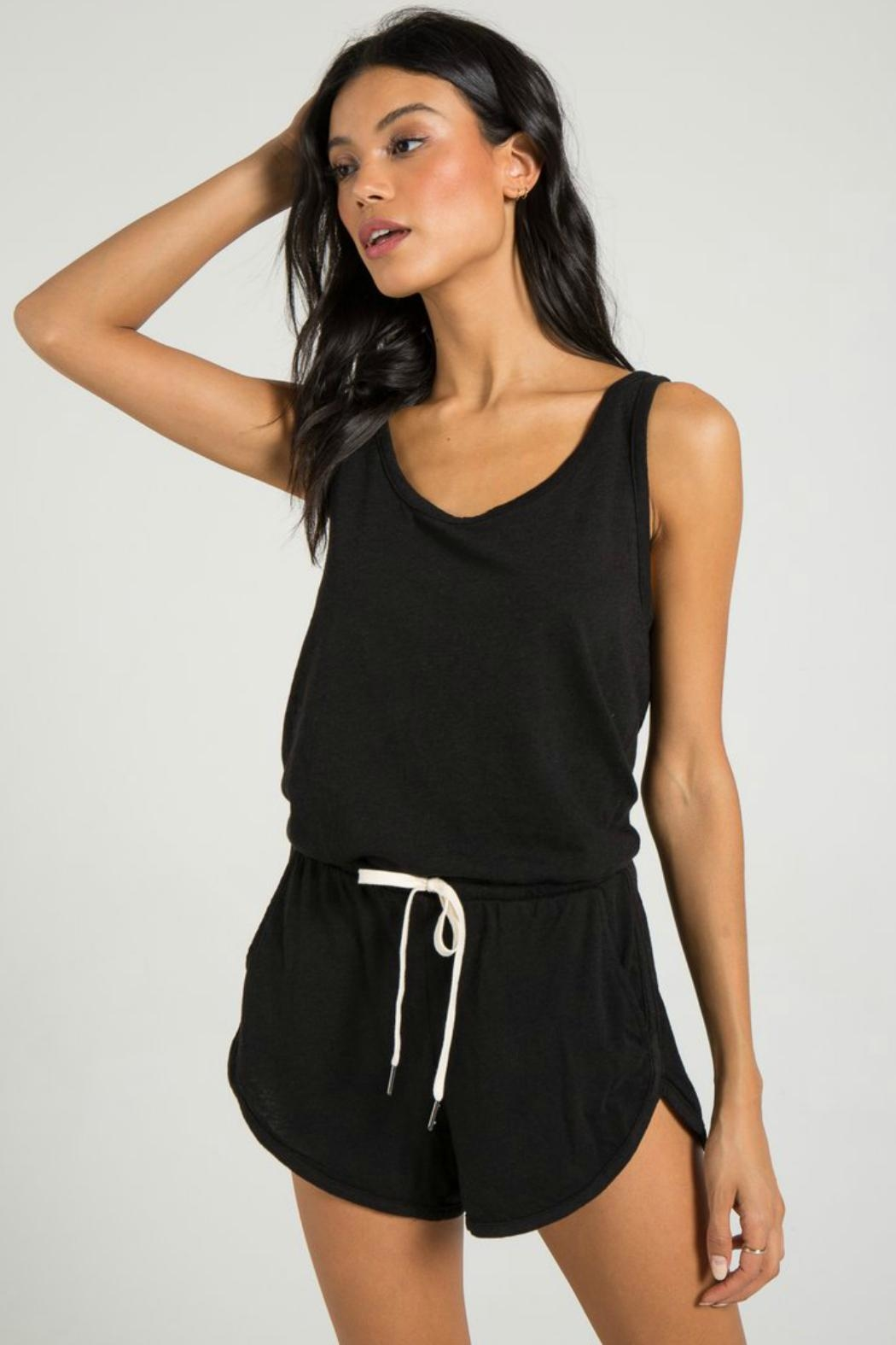 N: Philanthropy Powder Romper Black - Front Full Image