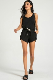 N: Philanthropy Powder Romper Black - Front cropped