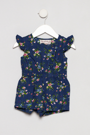 Powell Craft Blue Floral Romper - Product Mini Image