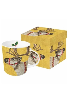 Shoptiques Product: Reindeer Boxed Mug