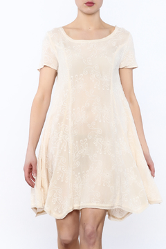 Shoptiques Product: Beige Embroidered Dress