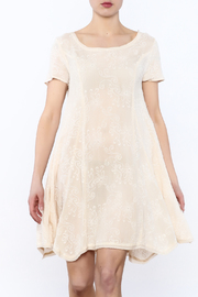 PPLA Beige Embroidered Dress - Product Mini Image