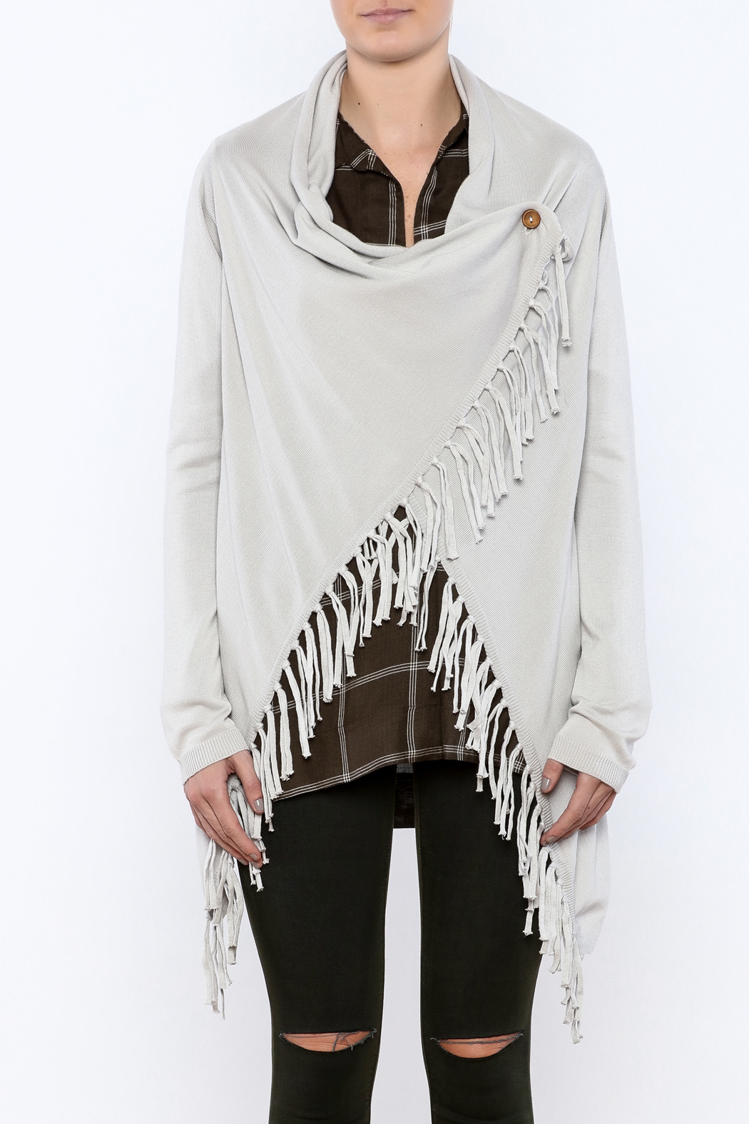 PPLA Fringe Wrap Sweater from Texas by Stephanie's Stuff — Shoptiques