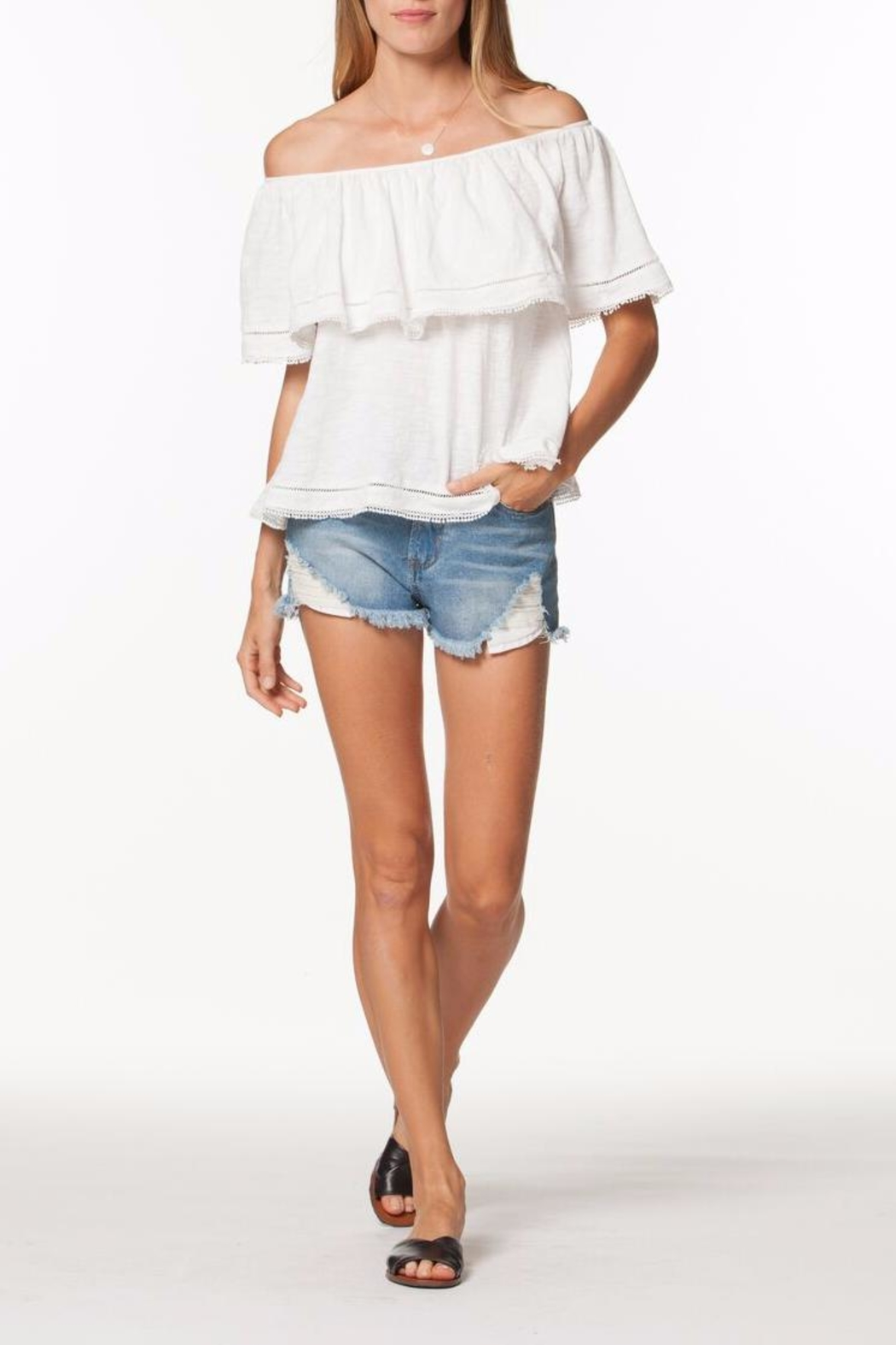 PPLA Off Shoulder Top - Front Cropped Image