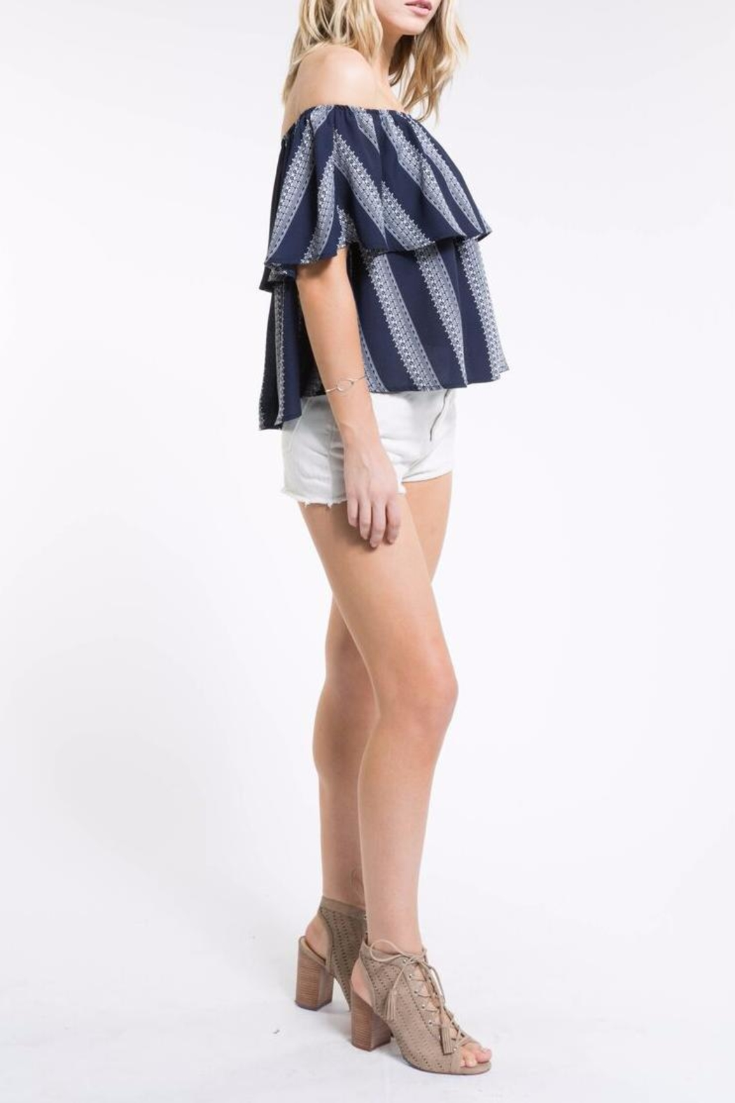 PPLA Off Shoulder Top - Side Cropped Image