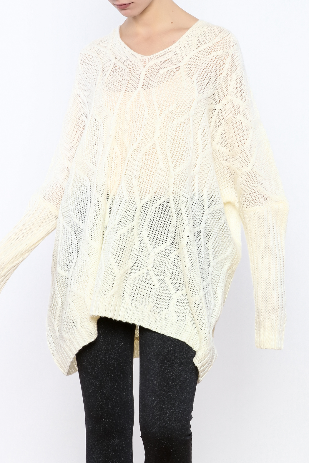 Ppla Oversized Cable Knit Sweater From Kansas By Fitwear Boutique