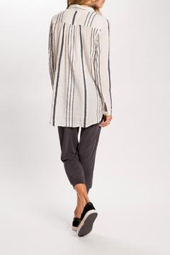 Shoptiques Product: Stripped Long-Sleeve Tunic