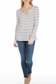 PPLA Clothing Cal Striped Knit Top - Front cropped