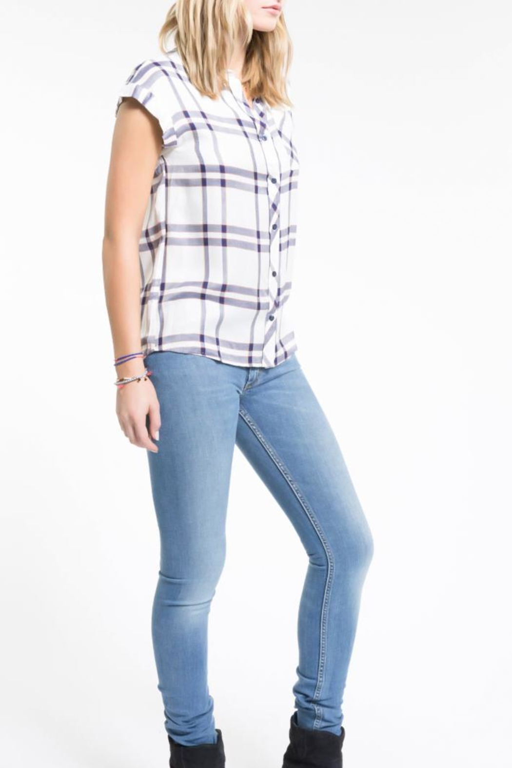 PPLA Clothing Flint Button Down Top - Side Cropped Image