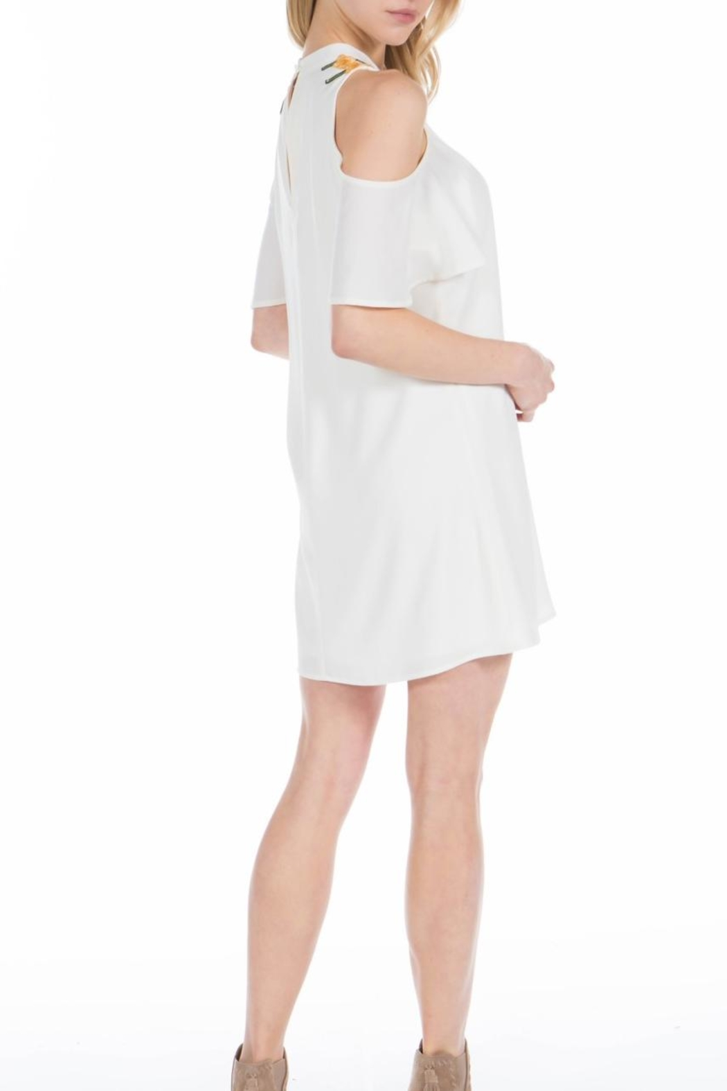 PPLA Clothing Ophelia Cold Shoulder Dress - Front Full Image