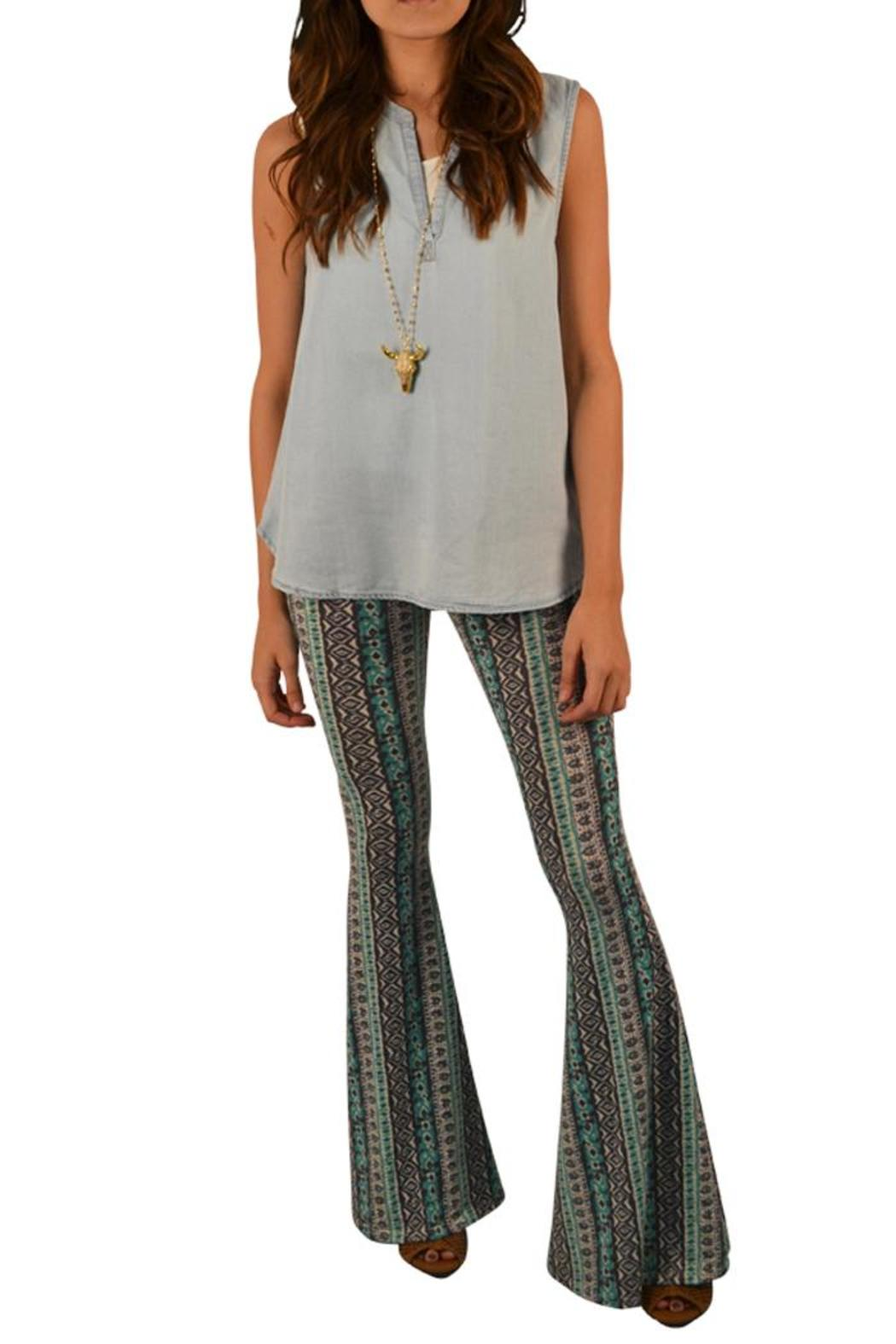 Ppla Clothing Printed Flare Pant From Lafayette By