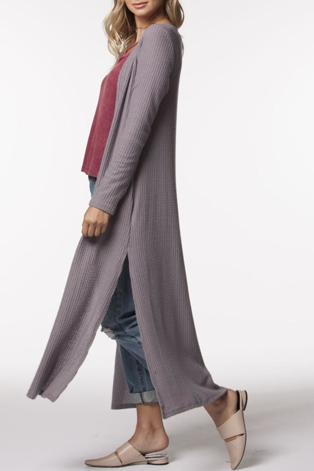 PPLA Clothing Zaria Duster - Side Cropped Image