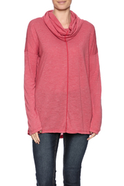 Prairie Cotton High Low Cowl Top - Product Mini Image