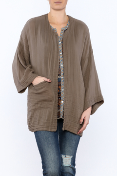 Shoptiques Product: Dark Taupe open Jacket