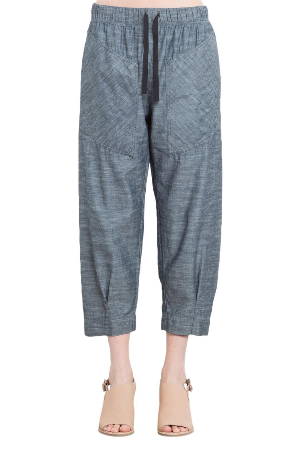 Prairie Underground Chambray Cropped Jogger - Front Full Image