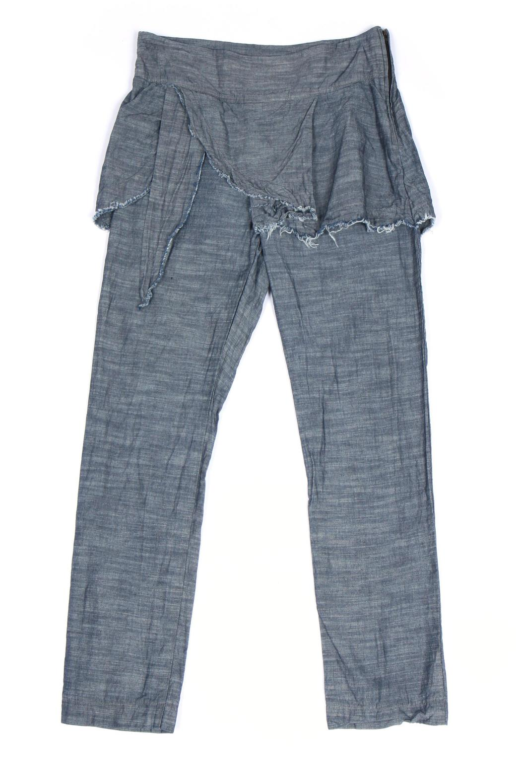 Prairie Underground Chambray Underwing Pants - Front Cropped Image