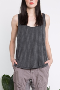 Prairie Underground Charcoal Pixel Print Top - Product List Image